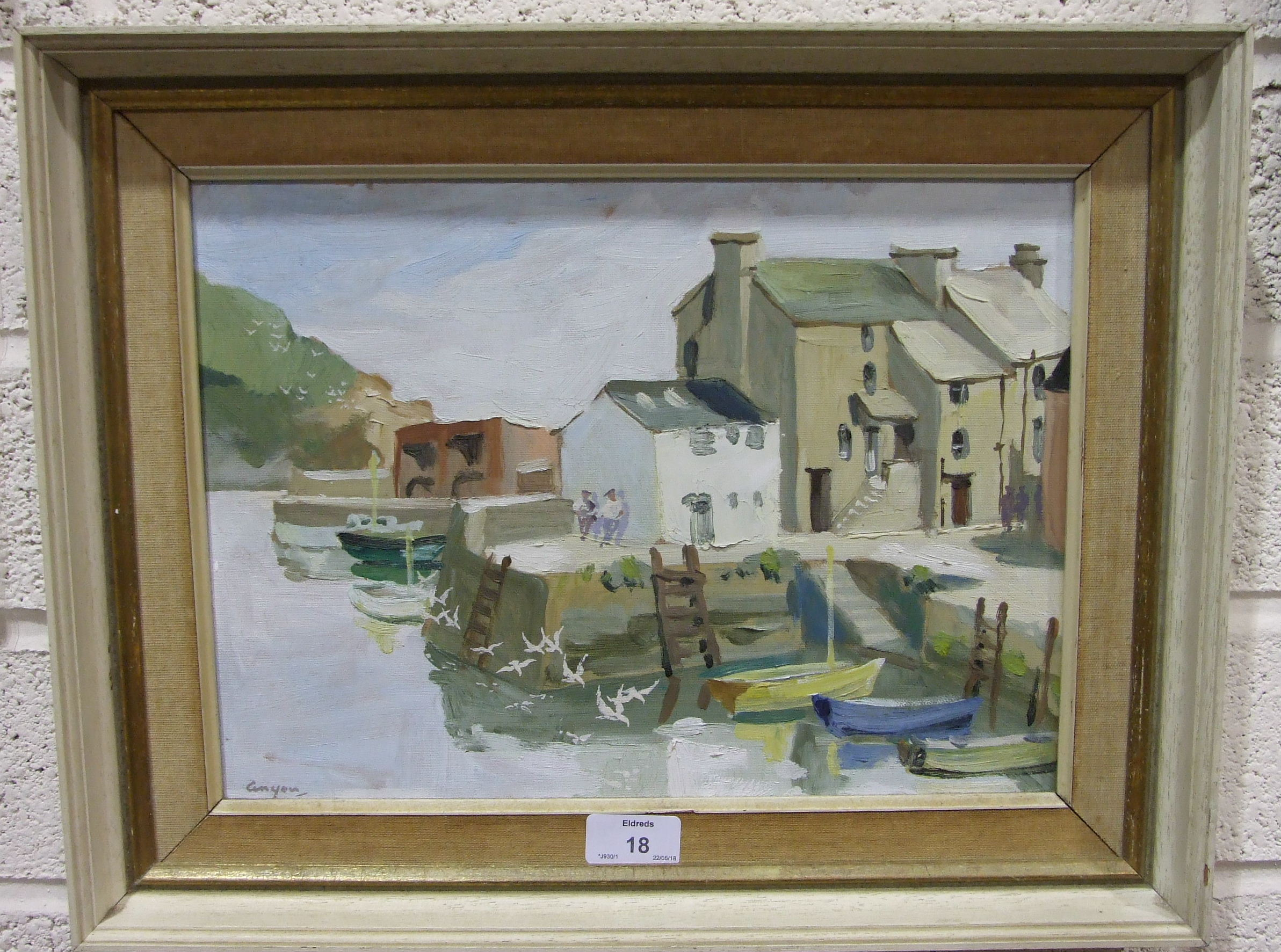 •Anyon Cook POLPERRO Signed watercolour, 18 x 25cm, together with another view of Polperro by the - Image 2 of 3