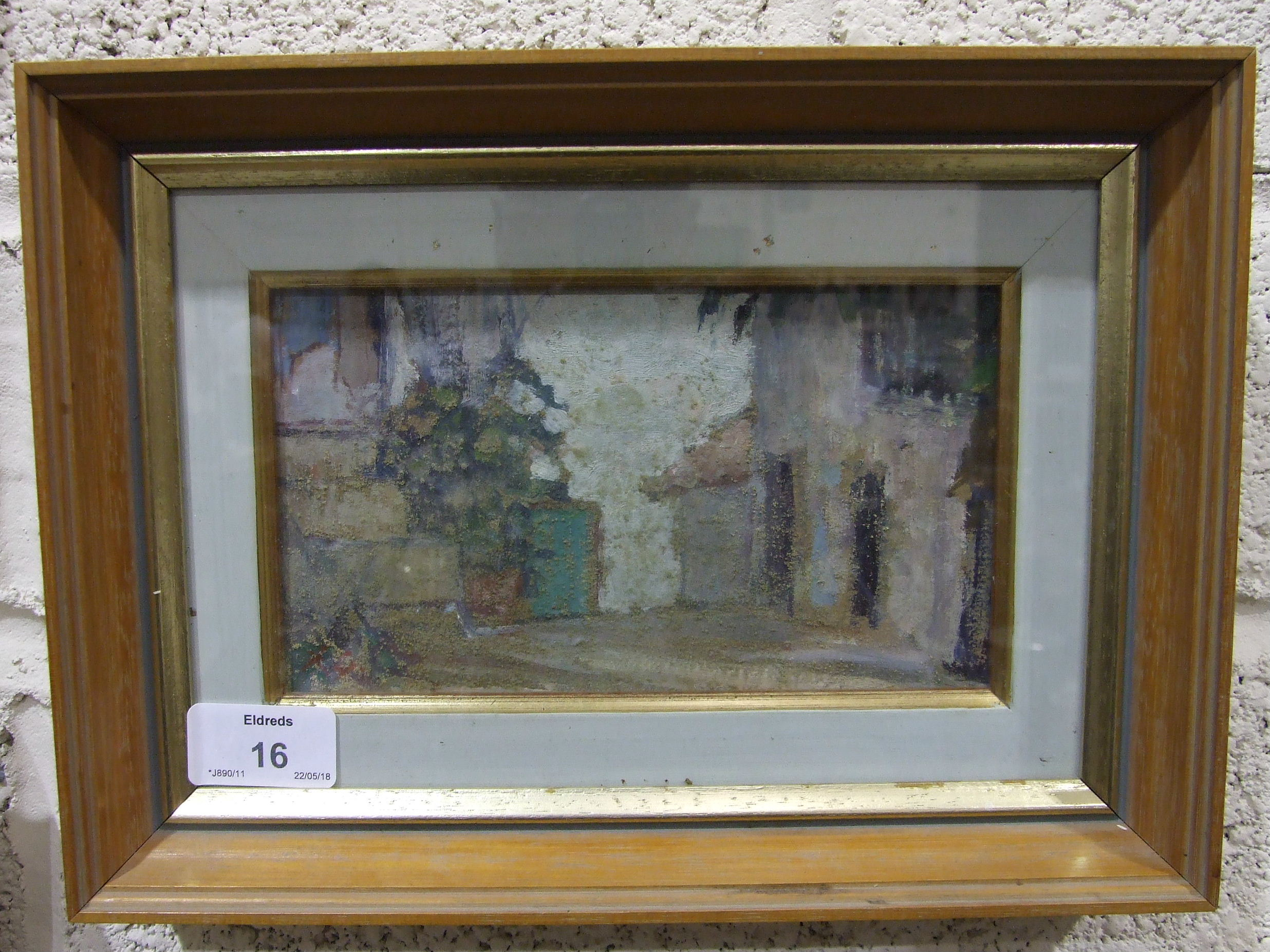 •Rita Greig RWA, ROI, NEAC (1918-2011) OLD ALBUFEIRA, ALGARVE Oil painting, signed with initials, - Image 2 of 2