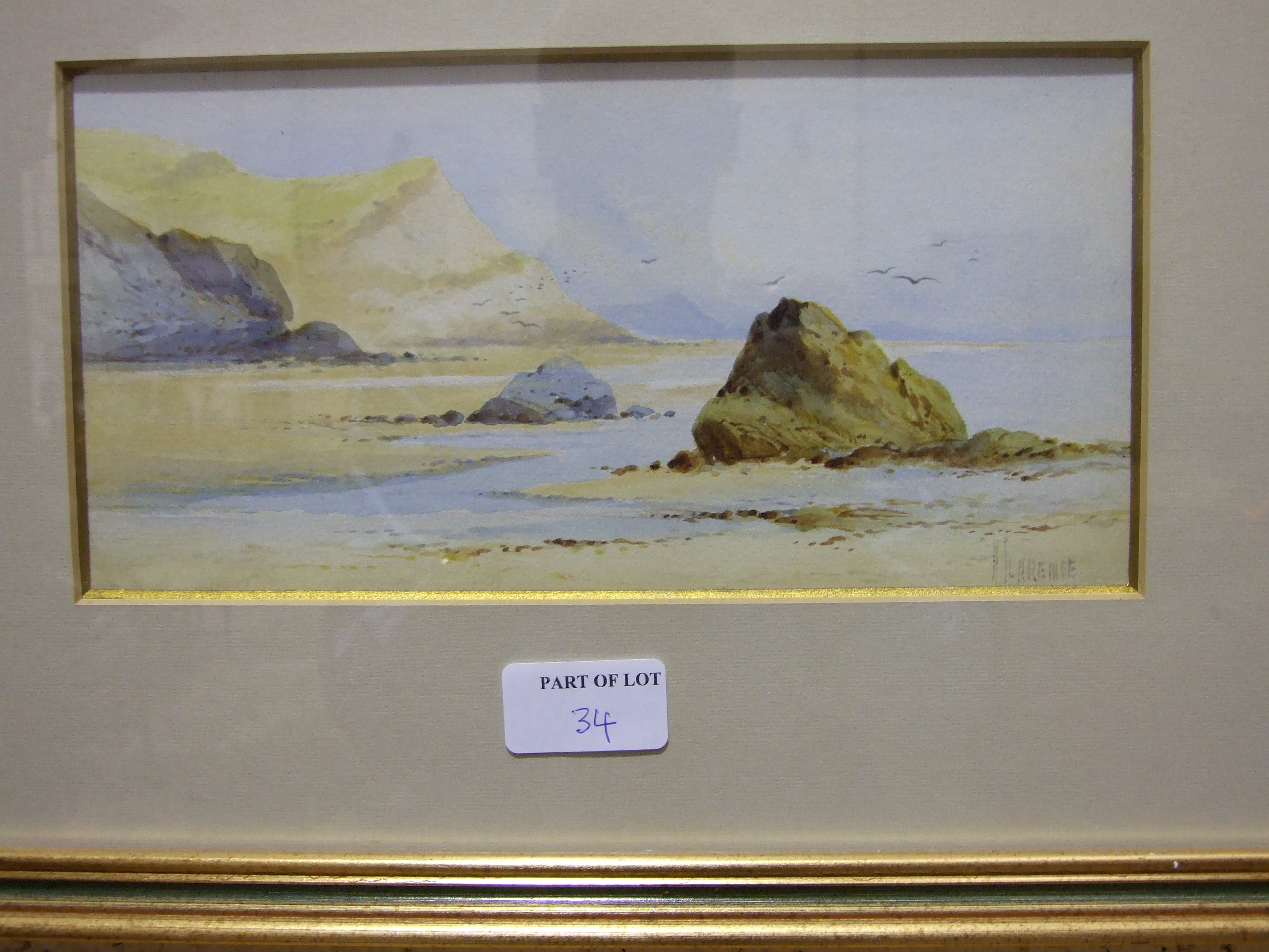 A Tyler LAND'S END Signed watercolour, 23 x 29cm, R F Wadham, COASTAL SCENE, signed watercolour, - Image 4 of 5