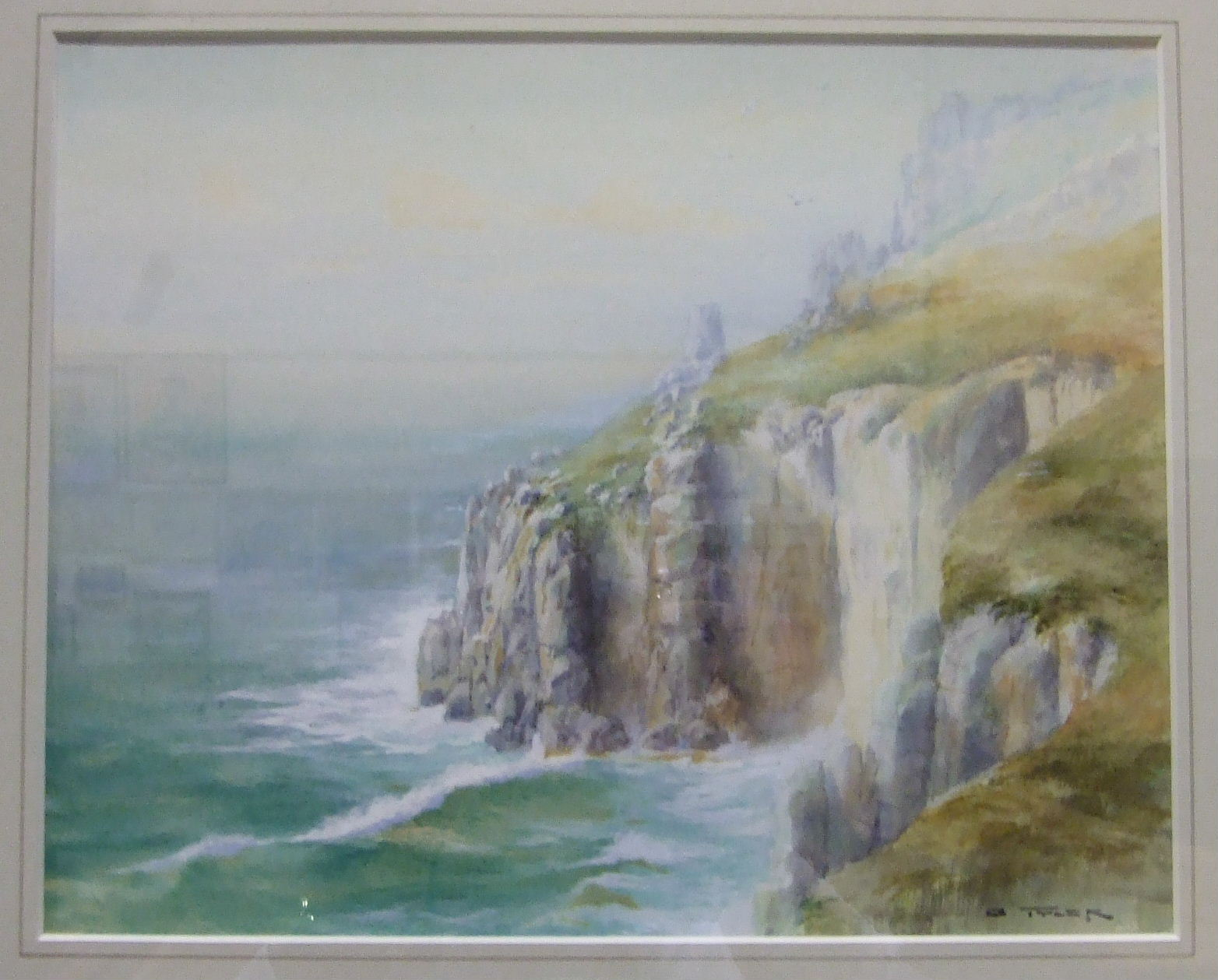 A Tyler LAND'S END Signed watercolour, 23 x 29cm, R F Wadham, COASTAL SCENE, signed watercolour, - Image 5 of 5
