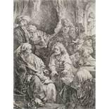Rembrandt Harmensz van Rijn (1606-1669) Joseph telling his dreams Etching, 1638, on laid paper, N...