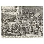 After Pieter Bruegel the Elder (1525-1569) by Philip Galle (1537-1612) Justice, from The Seven Vi...