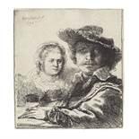 Rembrandt Harmensz van Rijn (1606-1669) Self-Portrait with Saskia Etching, 1636, on laid paper, a...