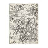 Albrecht Dürer (1471-1528) Hercules killing Cacus (conquering the Molionide Twins) Woodcut, circa...