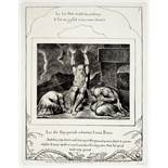William Blake (1757-1827) Plates seven, eight and nine from Illustrations of the Book of Job Thre...