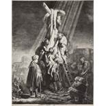 Rembrandt Harmensz van Rijn (1606-1669) The Descent from the Cross: Second Plate Etching, 1633, o...