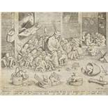 After Pieter Bruegel the Elder (1525-1569) The Parable of the Blind leading the Blind Engraving,...