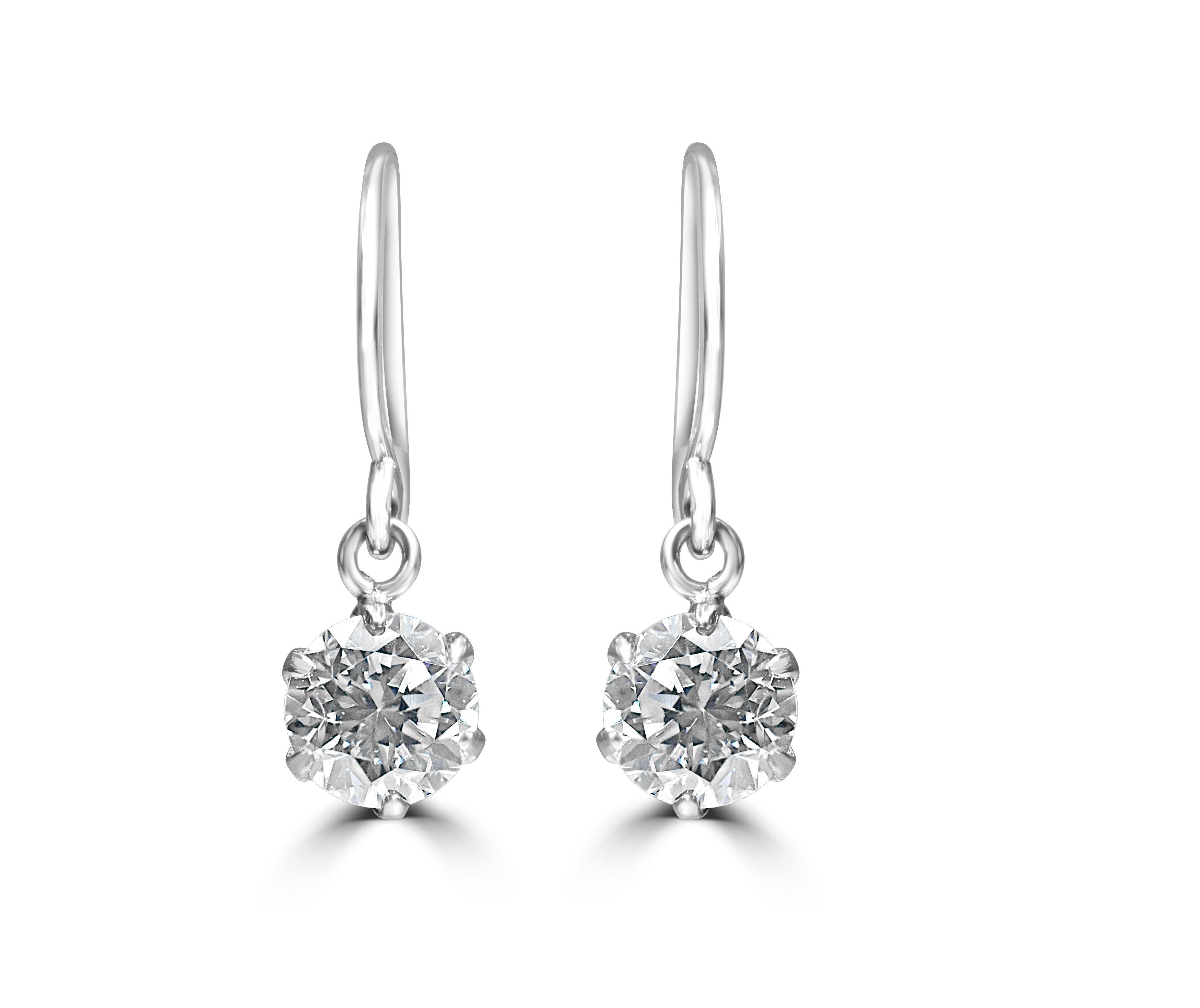 Stunning Platinum 1/2 carat tw Diamond Earrings RRP £1595