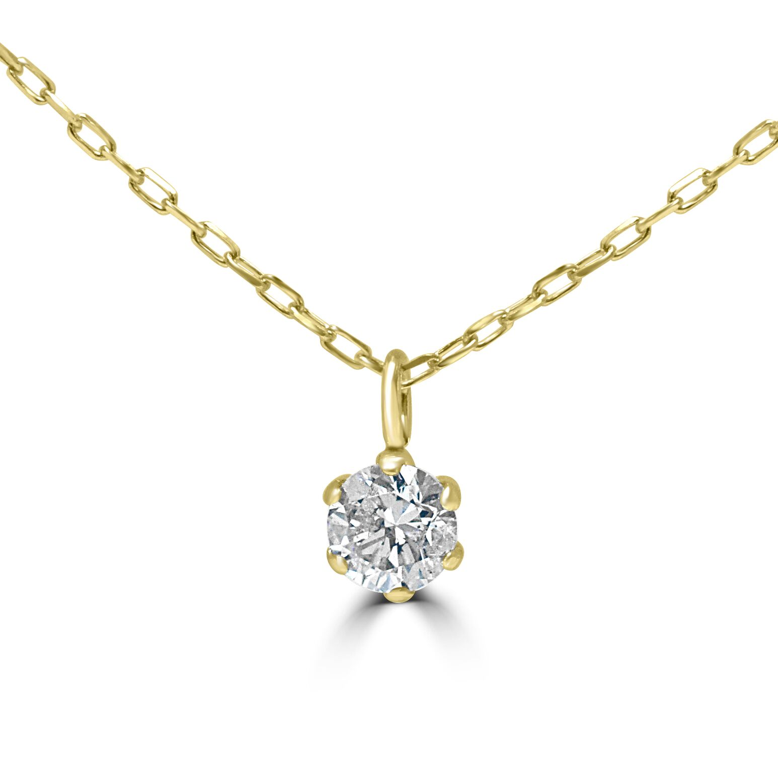Cute Diamond Pendant Necklace In 18ct Yellow Gold With 16 Inch Chain RRP £375