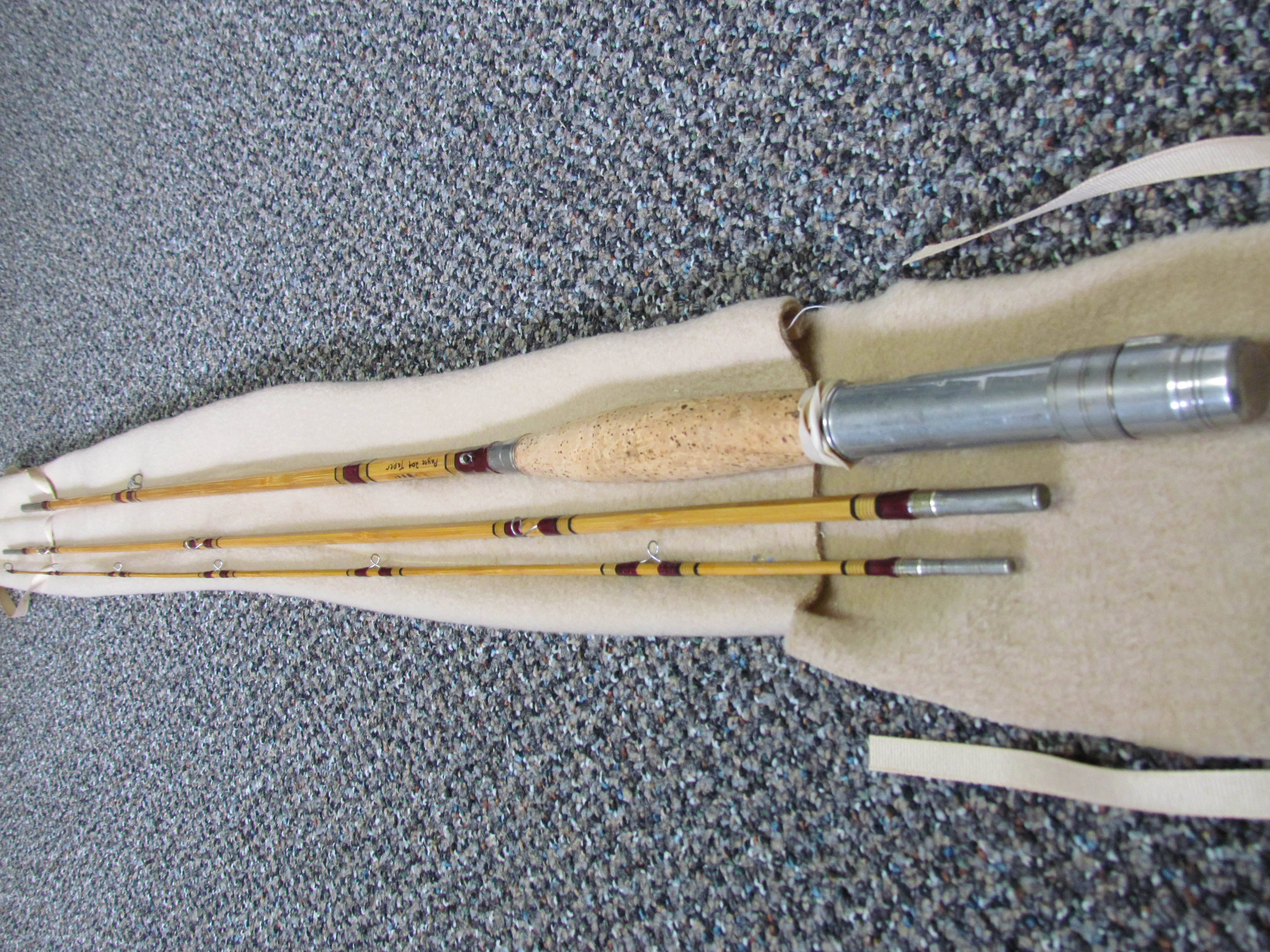 Lot 2 - SPLIT BAMBOO FLY FISHING ROD