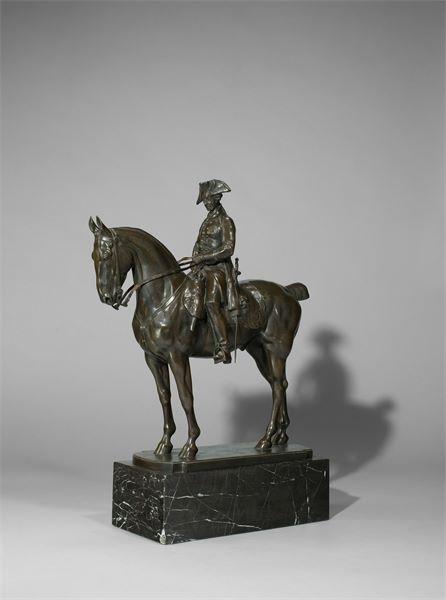 Lot 372 - Louis Tuaillon (1862 – Berlin – 1919) Friedrich der Große zu Pferde. Um 1911 / vor 1920 Bronze mit