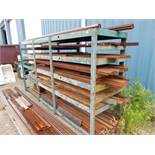 RACK W/CONTENTS TO INCLUDE PRESS BRAKE DIES UP TO 12' L (SURFACE RUST)