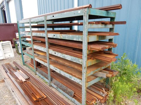 Lot 97 - RACK W/CONTENTS TO INCLUDE PRESS BRAKE DIES UP TO 12' L (SURFACE RUST)