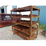 ROLLING RACK W/CONTENTS TO INCLUDE SHORT PRESS BRAKE DIES (SURFACE RUST)