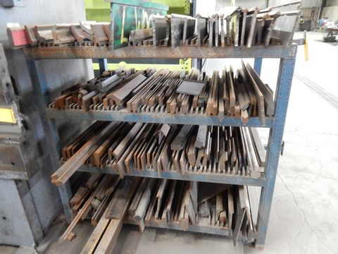 LOT RACK W/CONTENTS TO INCLUDE SHORT VARIOUS L PRESS BRAKE DIES - Image 2 of 2