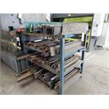 LOT RACK W/CONTENTS TO INCLUDE SHORT VARIOUS L PRESS BRAKE DIES