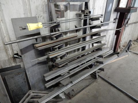 RACK W/CONTENTS TO INCLUDE SHORT PRESS BRAKE DIES