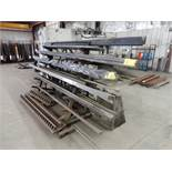 RACK W/CONTENTS TO INCLUDE MISC. PRESS BRAKE DIES UP TO 12' L