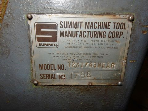 "SUMMIT HYD. PLATE SHEAR, M# 12X1/4, 1/4"" X 12' CAP - Image 4 of 4"