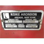 2009 KOIKE ARONSON PLATE CUTTING SYSTEM, M# GM2-2500 MASTERGRAPH II, S/N 45856