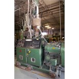 DAVIS STANDARD GC-61 CONICAL TWIN FEED EXTRUDER, 50HP, DIGITAL TEMPERATURE CONTROL, LOADER, CONAIR
