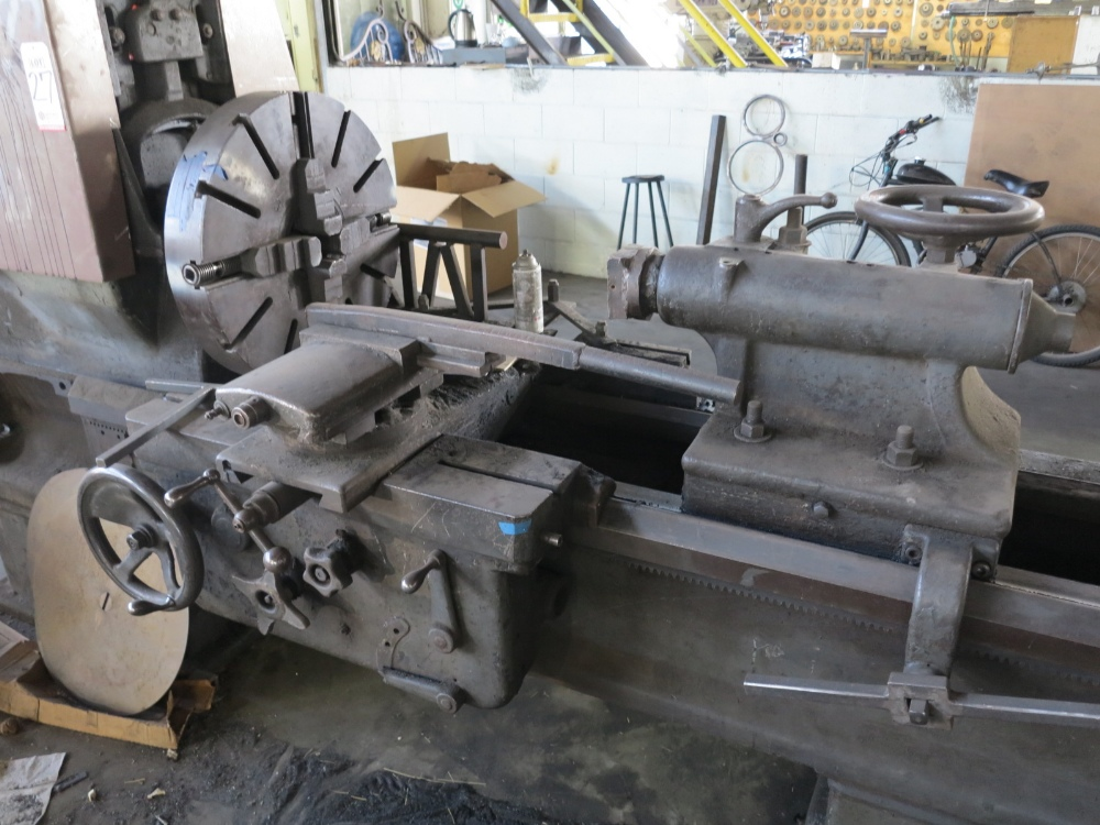"26"" X 120"" AXELSON LATHE, CURRENTLY USED AS A BAR TWISTING MACHINE"