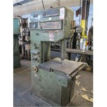 "16"" KYSOR JOHNSON VERTICAL BANDSAW, WELDER GRINDER, CUT-OFF, HIGH / LOW SPEED TRANSMISSION, S/N"