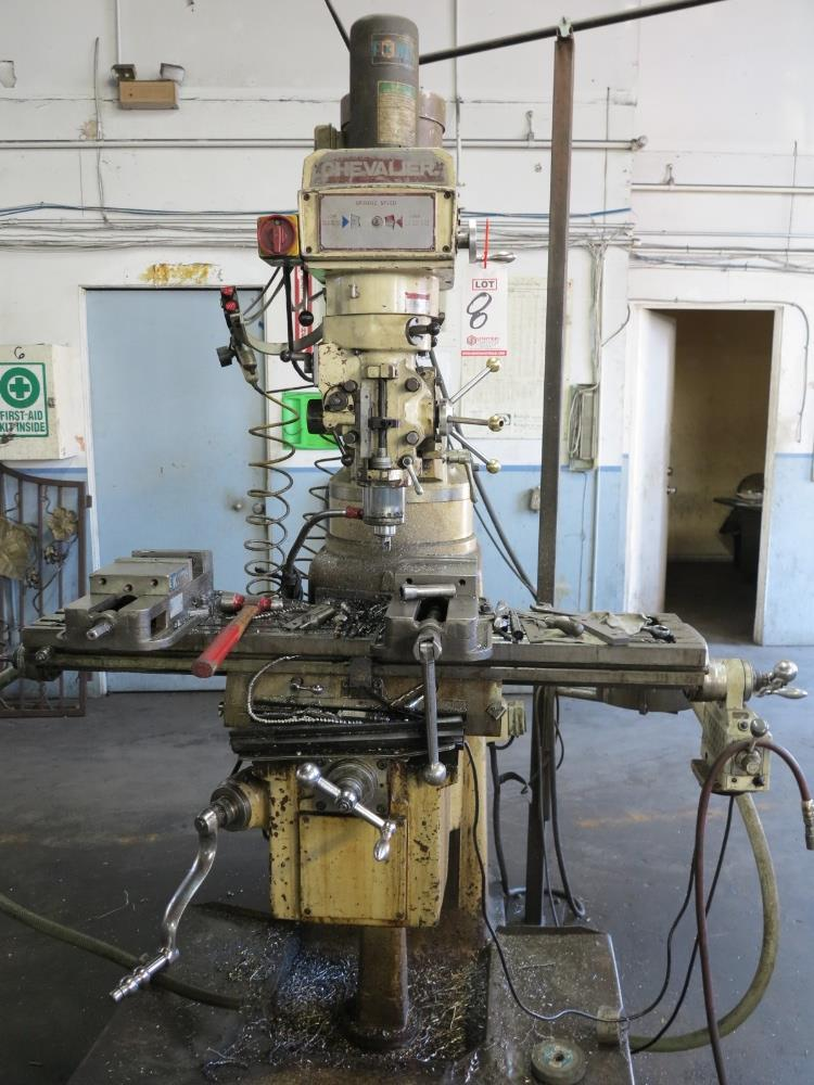 """CHEVALIER VERTICAL MILL, MODEL FM-3VK TABLE POWER FEED, 10""""X 50"""" TABLE, VARIABLE SPEED POWER DRAW"""