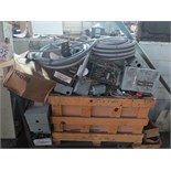 LOT - CONTENTS OF CARTS, ELECTRICAL COMPONENTS (CARTS NOT INCLUDED)