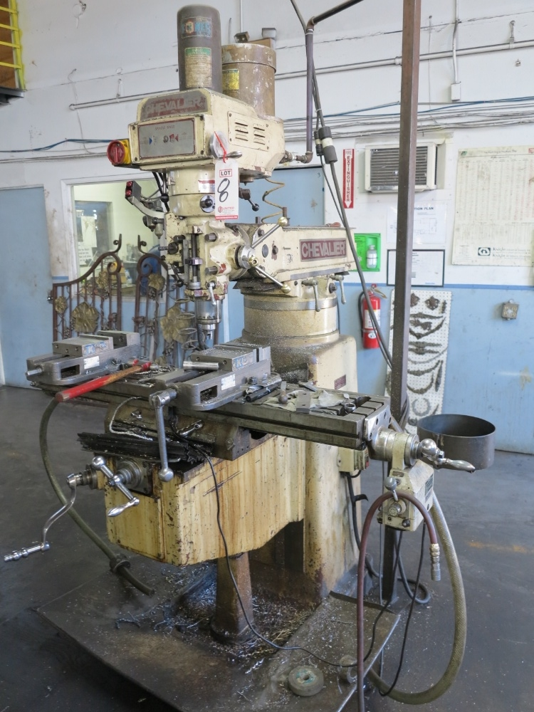 """CHEVALIER VERTICAL MILL, MODEL FM-3VK TABLE POWER FEED, 10""""X 50"""" TABLE, VARIABLE SPEED POWER DRAW - Image 2 of 3"""