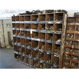 WOOD PARTS CABINET W/ CONTENTS