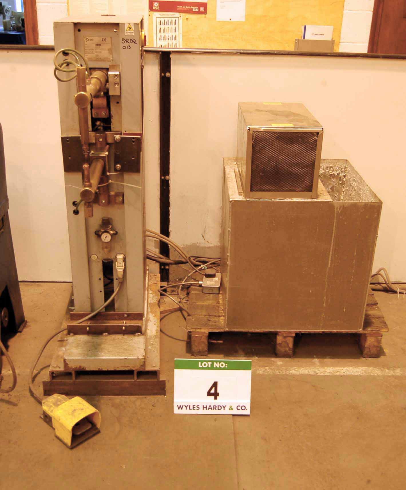Lot 4 - A D PEI POINT Puntatrici Type PBP126C2 25KVA Spot Welder, Serial No. 0109576 (2001) with 430mm