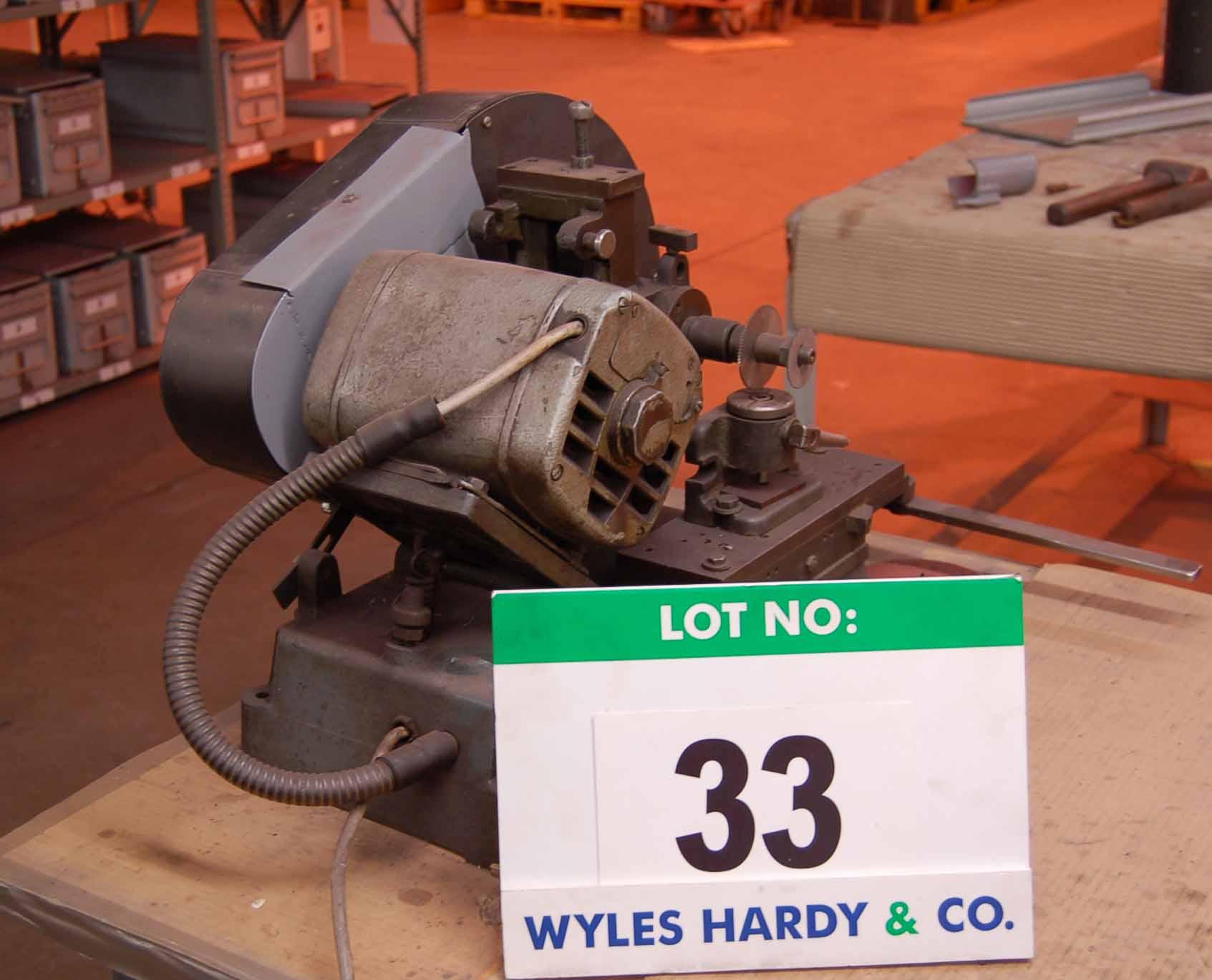 Lot 33 - ERMA, SEC OP MIL Bench top Mill Serial No. 1505 240V, (N.B. No Guards)