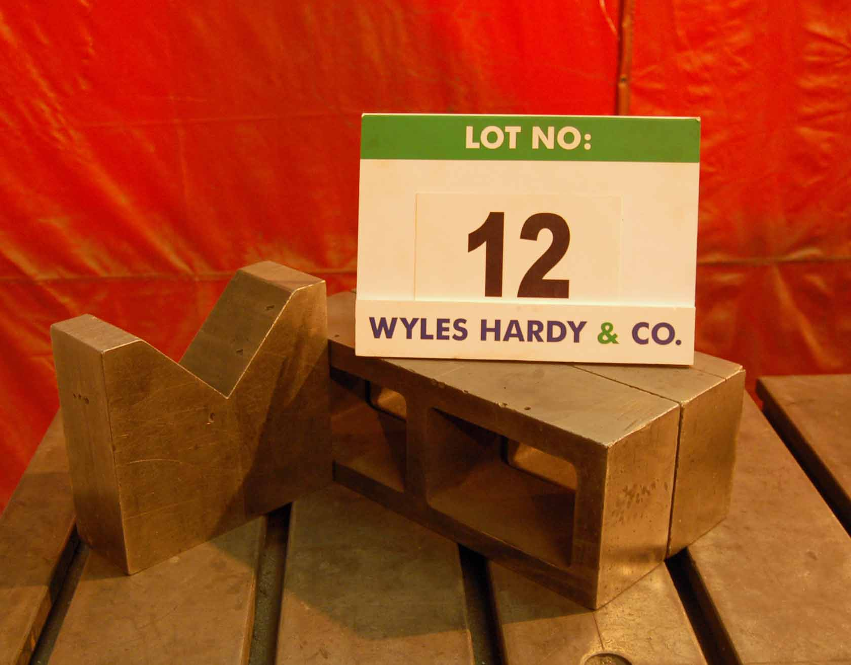 Lot 12 - Two 400mm x 100mm x 150mm Welding Blocks and A 235mm x 85mm x 210mm Vee Block (As Photographed)