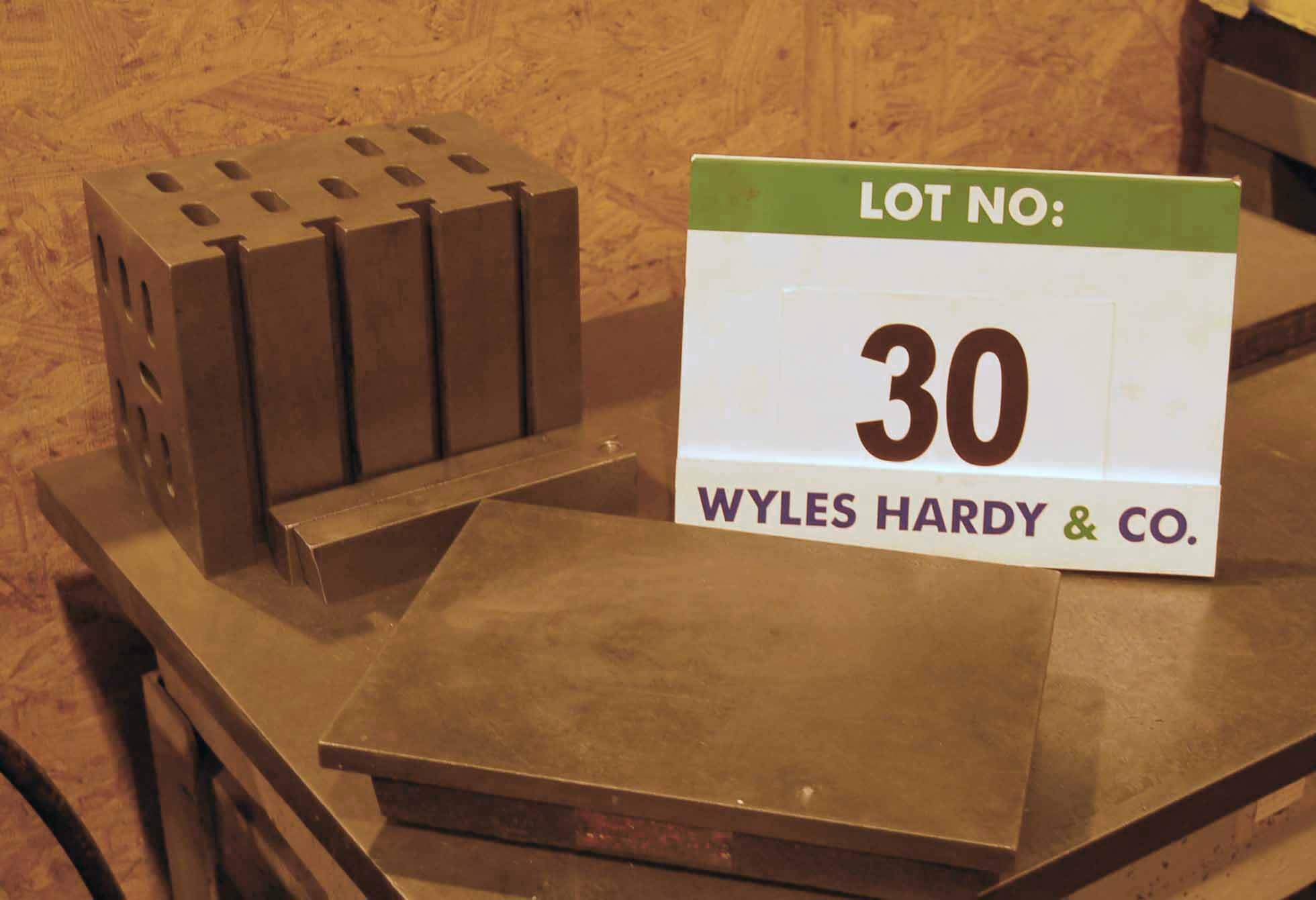 Lot 30 - A 235mm x 150mm x 185mm T-Slotted Measuring Block with A 305mm x 230mm Surface Plate