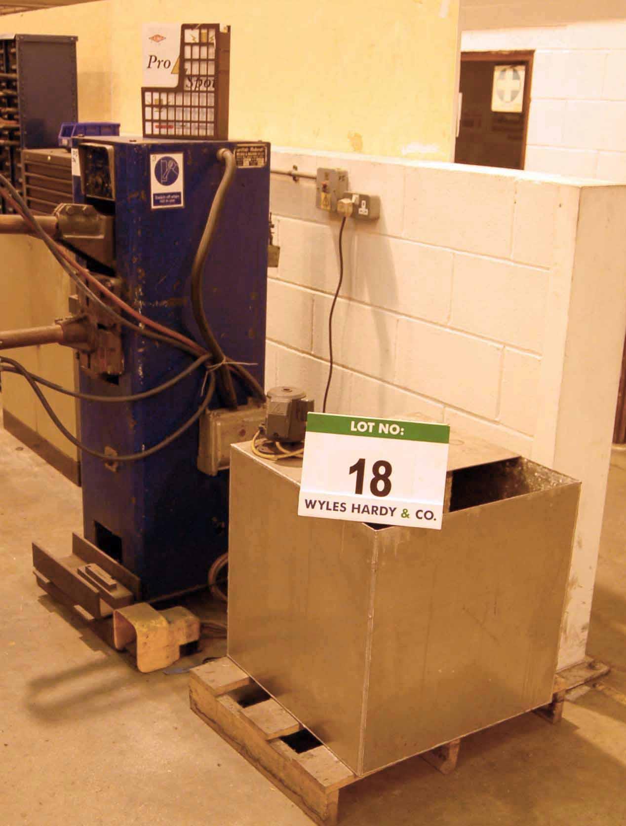 Lot 18 - A BRITISH FEDERAL Type W/6 17KVA Spot Welding Machine, Machine No. 14645 Serial No. 28137 (1981),