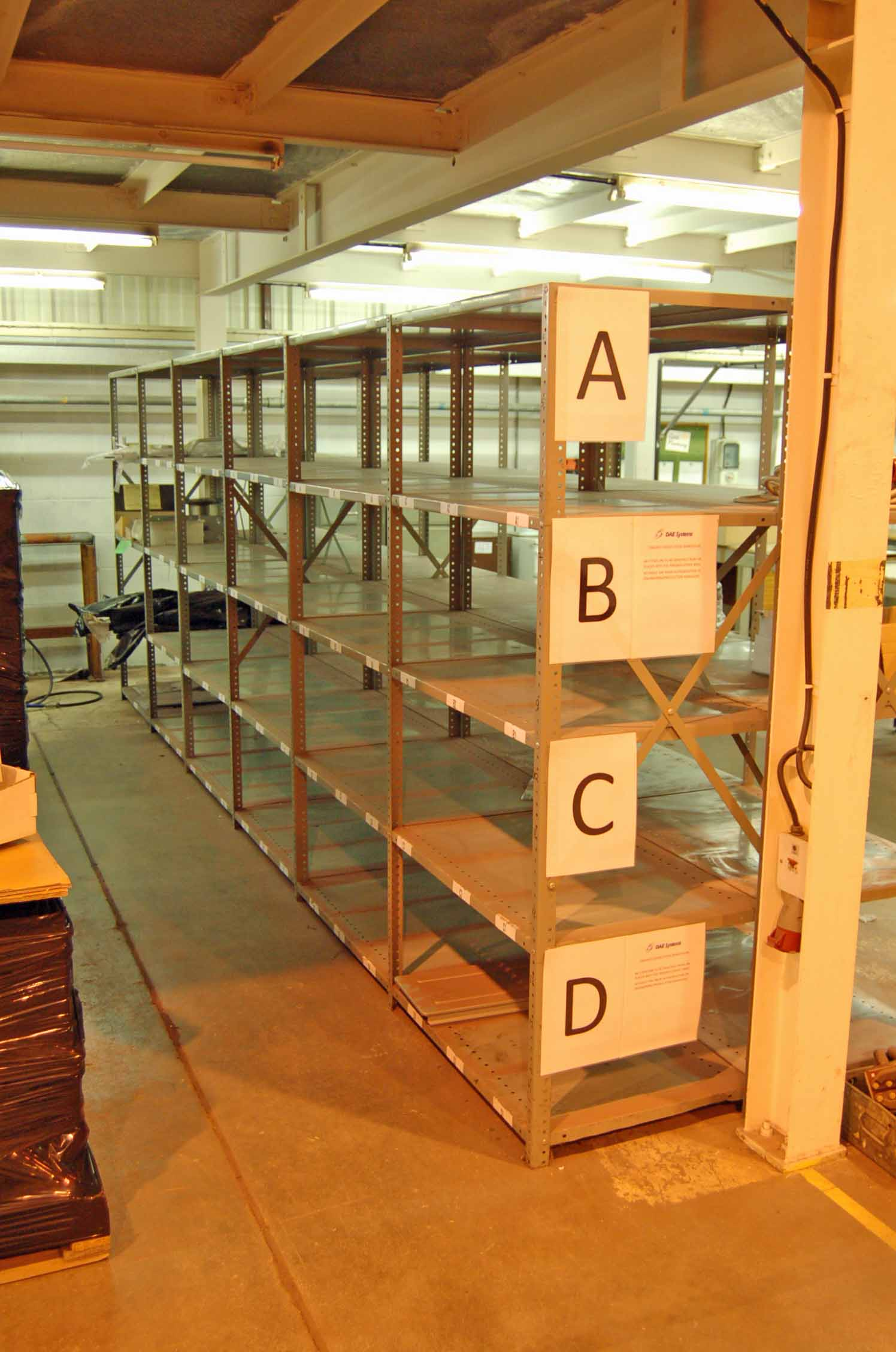 Lot 35 - 12 Bays of 2m x 1m Bolt Together Steel Racking