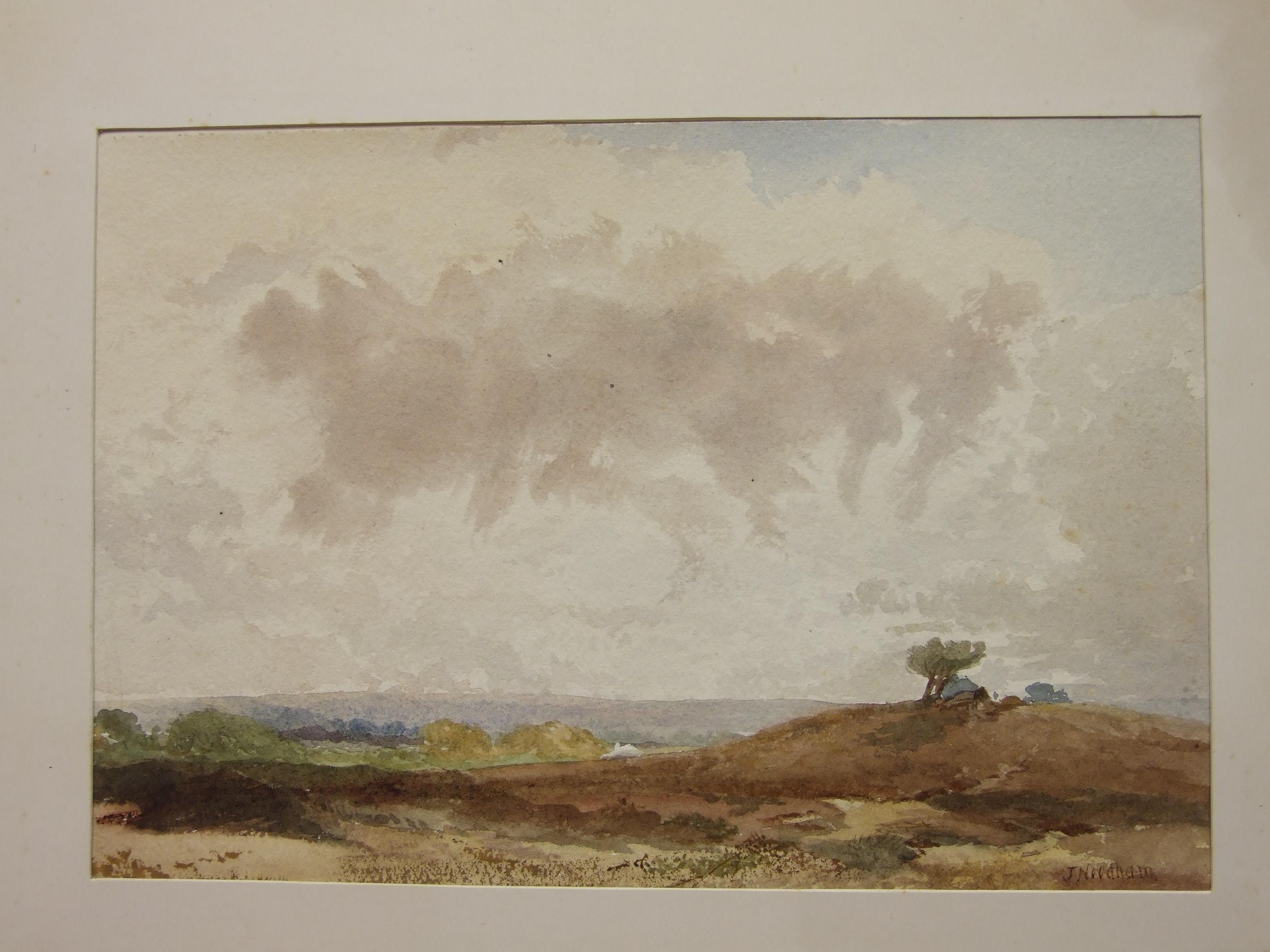 Lot 13 - Joseph Needham (c1810-1880), an album containing twelve signed watercolours, mainly mountainous