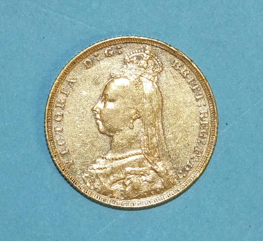 Lot 262 - An 1888 sovereign.