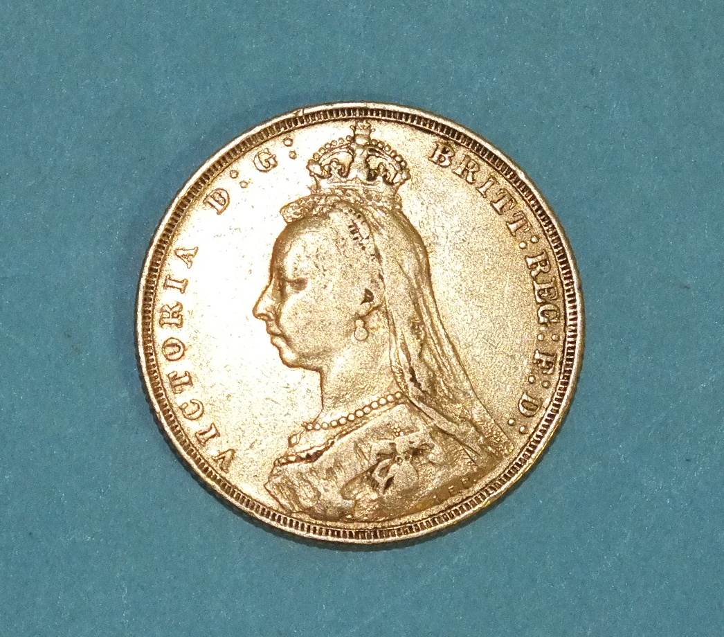 Lot 261 - An 1889 sovereign.