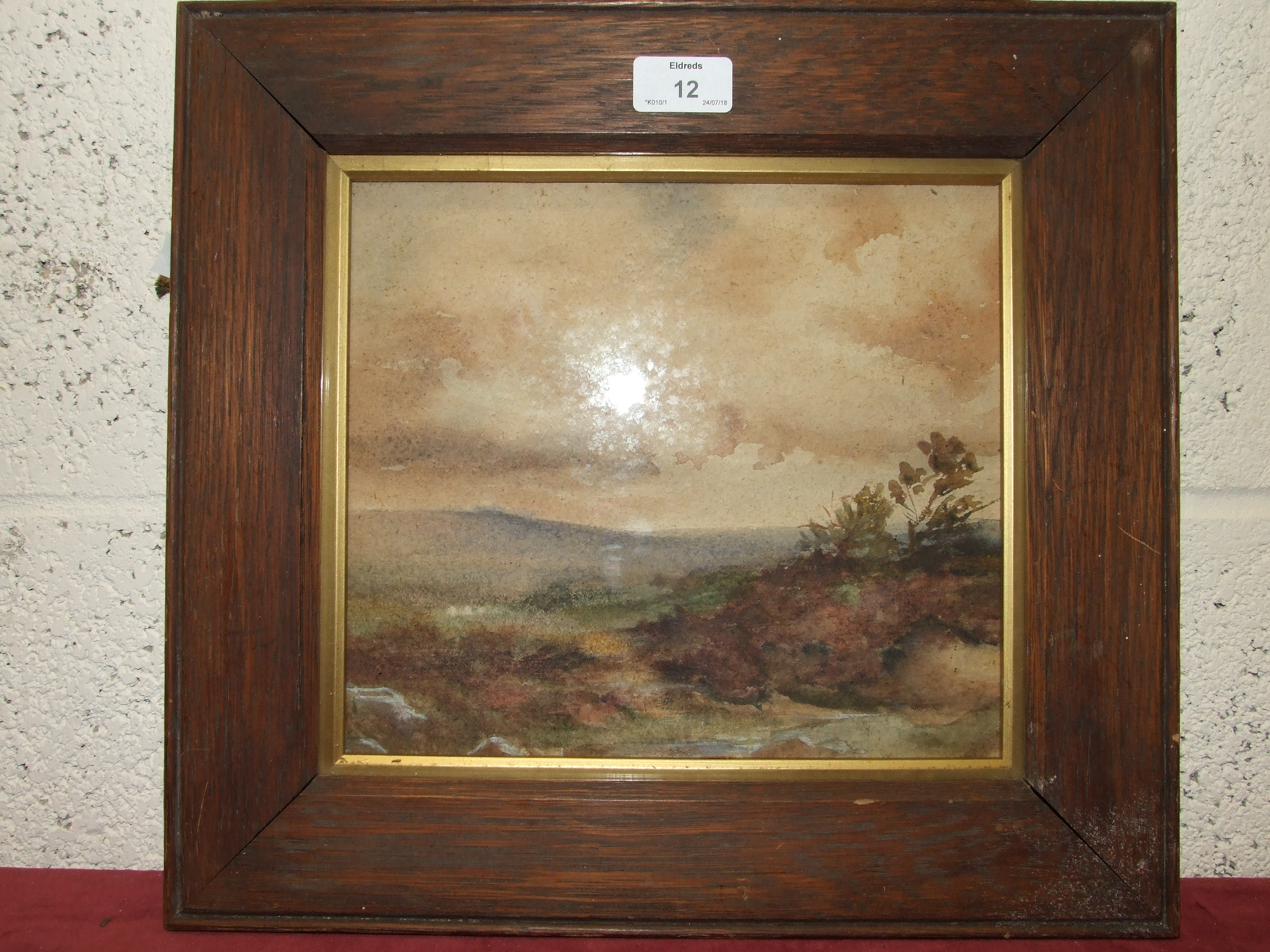 Lot 12 - W Payne FIGURES AND CATTLE IN A LANDSCAPE Signed watercolour, 18 x 26cm, faded, unframed, together