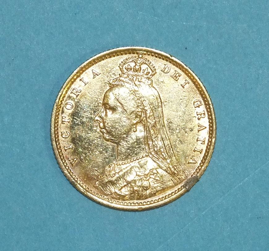 Lot 264 - An 1892 half-sovereign.