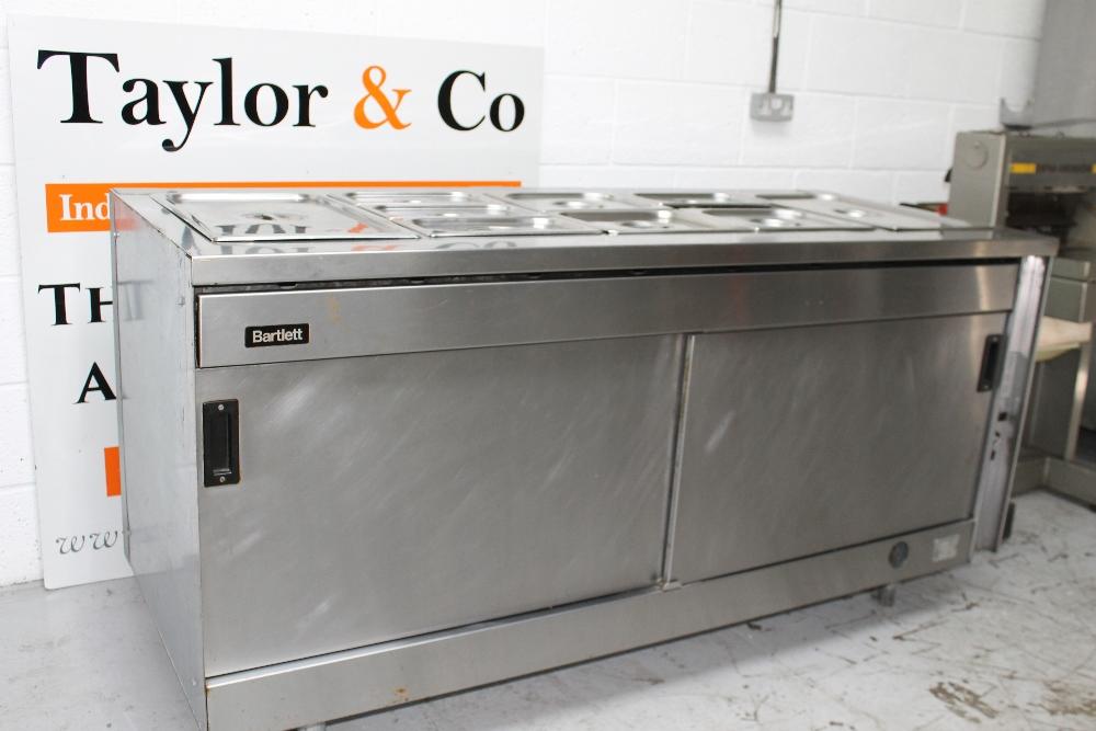 Bartlett gas heated buffet unit lids but no pans w180cm for Sideboard petrol
