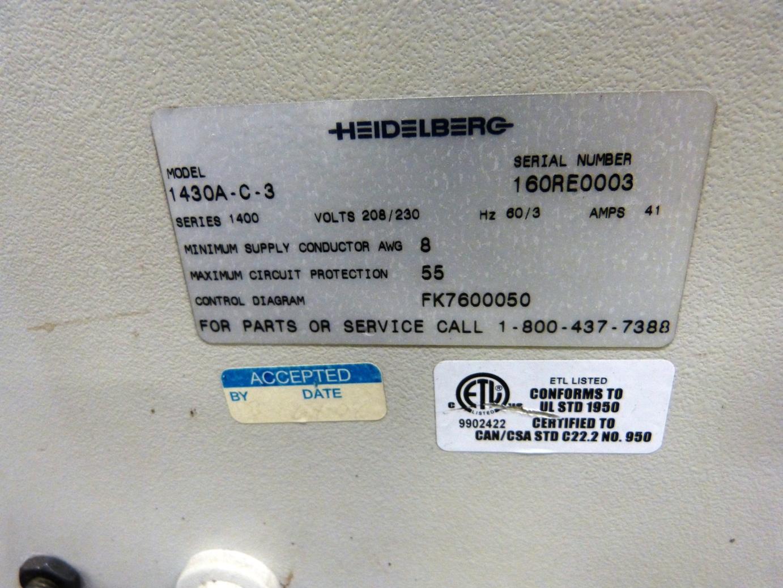 "Lot 12 - 2004 HEIDELBERG-STAHL ""1430A"" Folder, 30"" Capacity w/16-Page, (4/4/4) Gate Fold Plate"