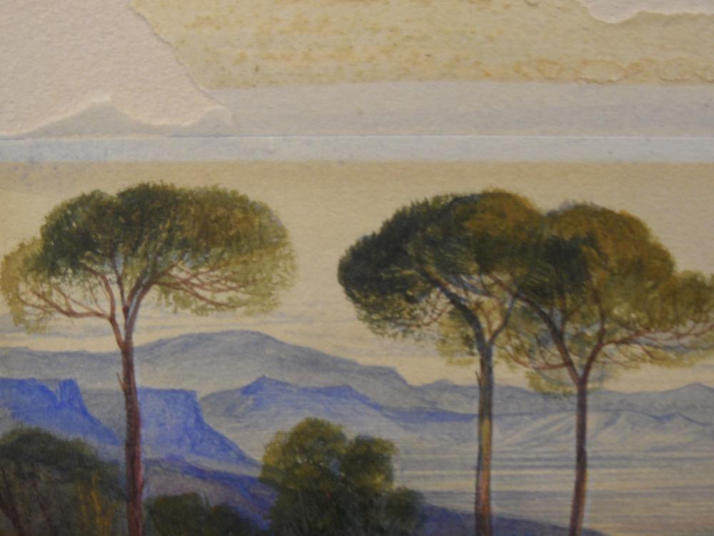"Lot 389 - Edward Lear (British, 1812-1888) The Plains of Marathon, Greece signed lower left with monogram ""EL"""