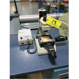 Mitutoyo TM Machinist Microscope with Mitutoyo Digital Slide Readouts