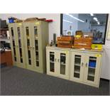 (5) Glass Front Storage Cabinets Including: