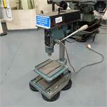 """Meddings LF2 Bench Drill. 5 x Spindle Speeds 500 - 4000rpm. Table Size 10"""" x 11"""". Motor 3 Phase."""