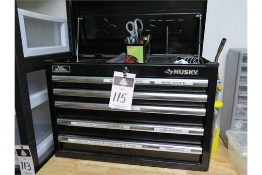 Group Of Lots 114 115 116 Husky 5 Drawer Tool Box