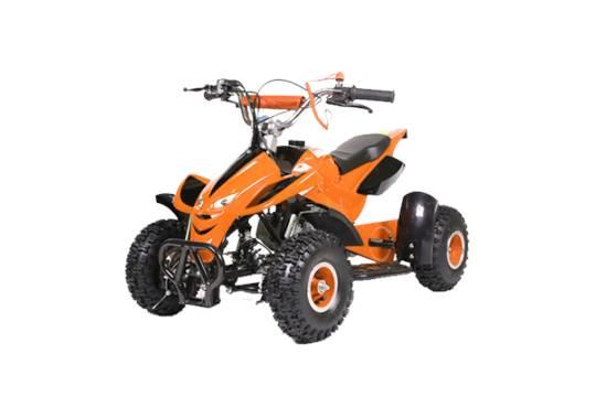 Brand New Orange Mini Moto 50cc Petrol Pull Start Quad Bike Street